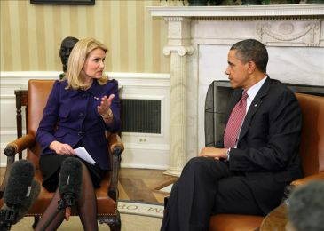 Helle Thorning Schmidt i Obama, 24.2.2012